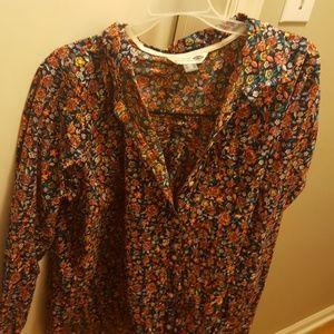 blouse,flower pattern